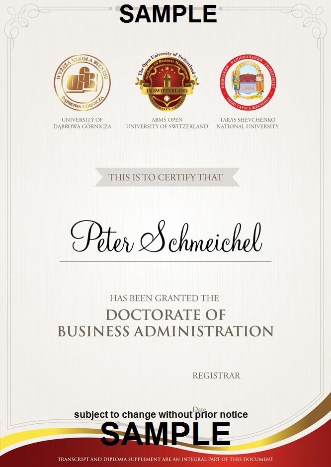 الاعتماد والاعتراف Ous الأكاديمية السويسرية الملكية للإقتصاد